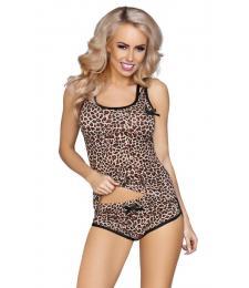 Хлопковая пижамка леопардовой расцветки