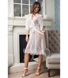 Изящный длинный халат Lolita из кружева