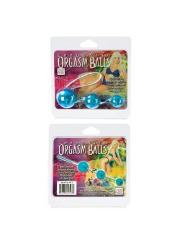 Голубые вагинальные шарики Graduated Orgasm Balls